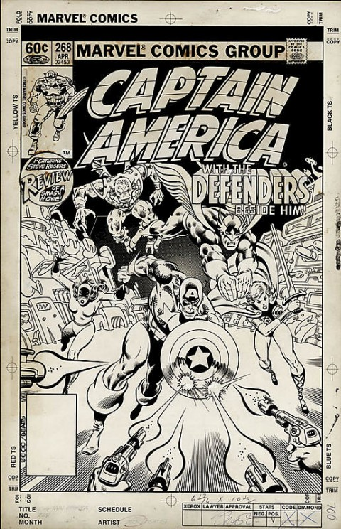 Captain America issue 268 cover by Mike Zeck and John Beatty.  Source.