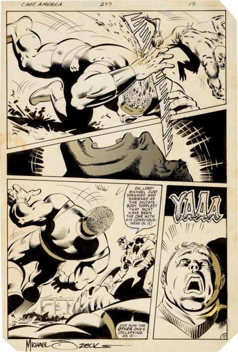 Captain America issue 277 page 15 by Mike Zeck and John Beatty.  Source.