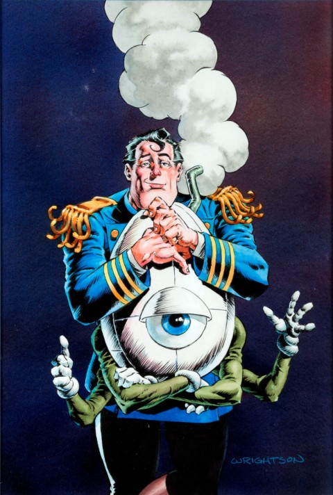 Captain Sternn Running Out of Time issue 1 cover by Bernie Wrightson.  Source.