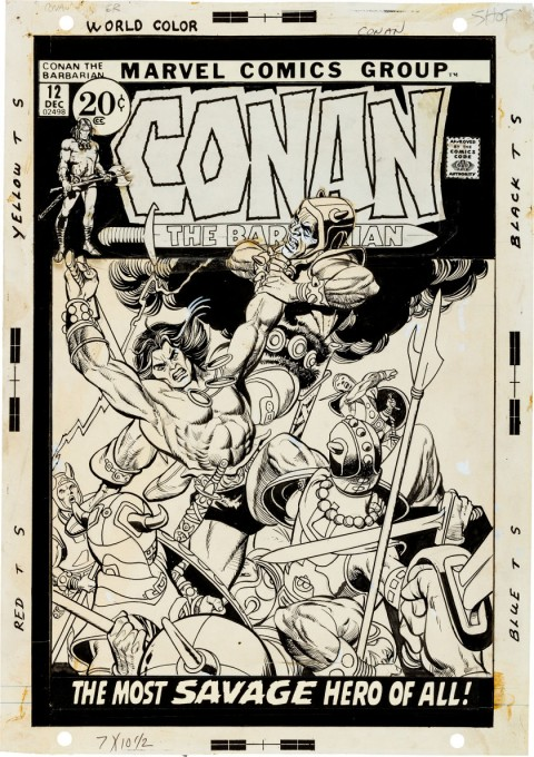 Conan the Barbarian issue 12 cover by Gil Kane.  Source.