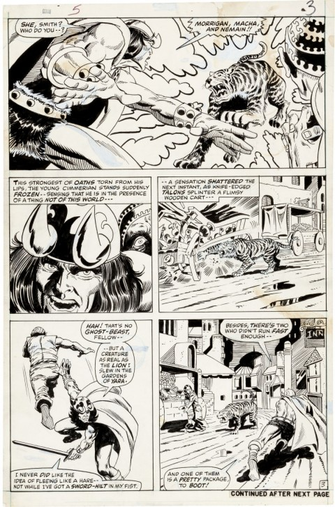 Conan the Barbarian issue 5 page 3 by Barry Smith and Frank Giacoia.  Source.