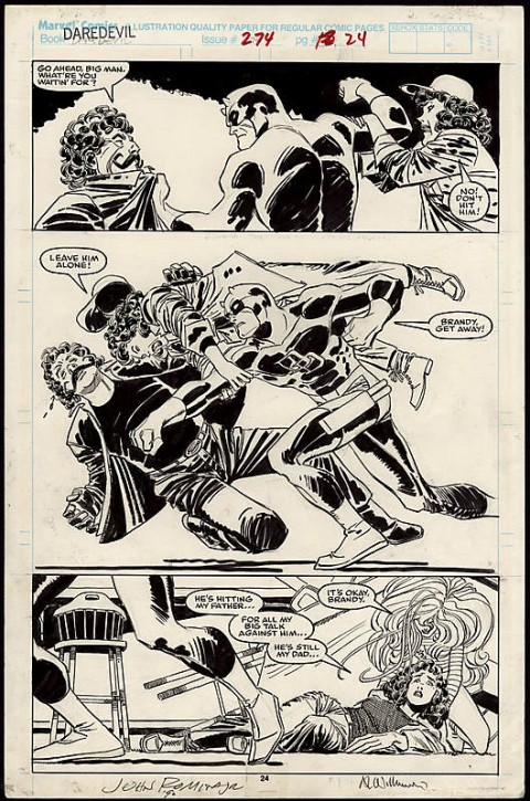 Daredevil issue 274 page 24 by John Romita Jr. and Al Williamson.  Source.