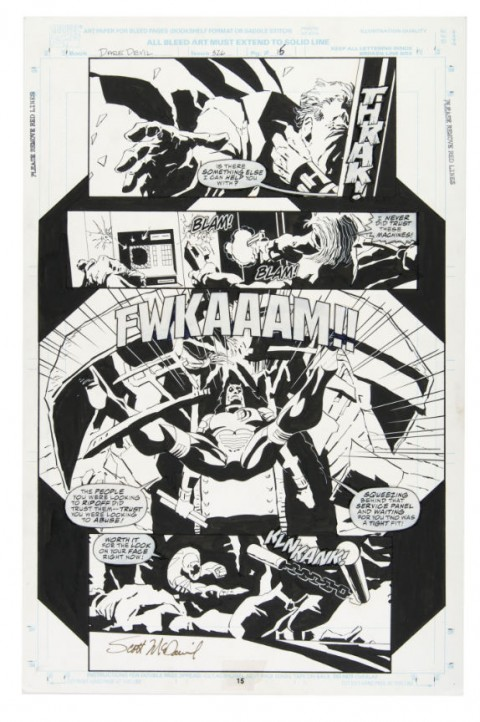 Daredevil issue 326 page 15 by Scott McDaniel.  Source.