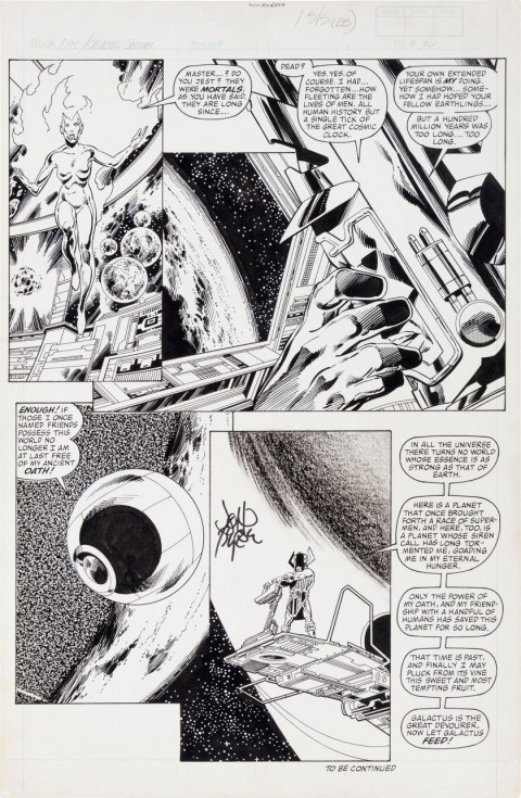 Epic Illustrated issue 29 The Last Galactus Story page 6 by John Byrne and Terry Austin.  Source.