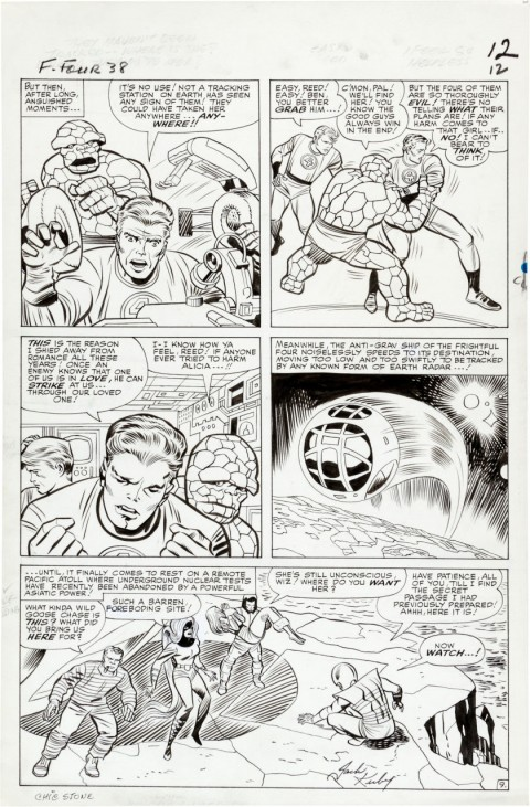 Fantastic Four issue 38 page 9 by Jack Kirby and Chic Stone.  Source.