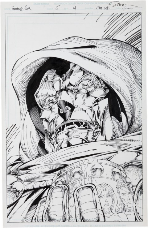 Fantastic Four issue 5 page 4 by Jim Lee and Scott Williams.  Source.