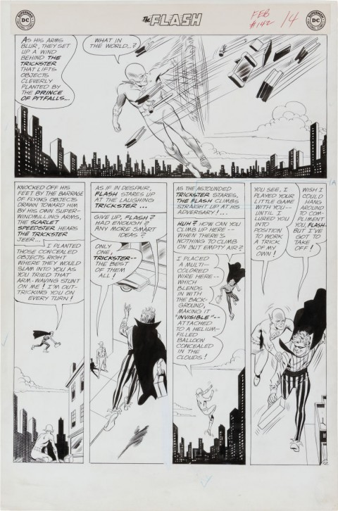 Flash issue 142 page 12 by Carmine Infantino and Joe Giella.  Source.