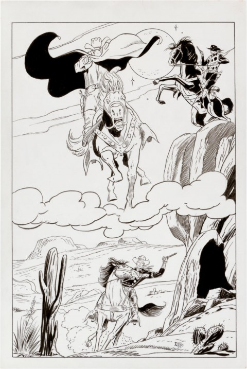 Ghost Rider, Two-Gun Kid, and Rawhide Kid by Dick Ayers.  Source.
