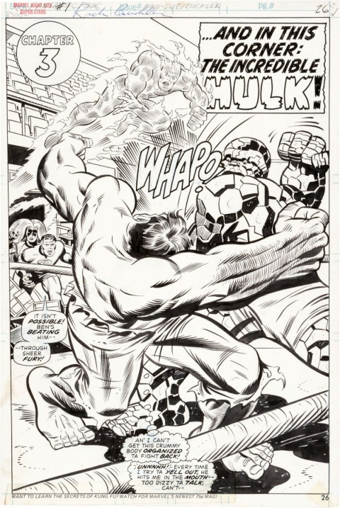 Giant-Size Super-Stars Featuring the Fantastic Four page 26 by Rich Buckler and Joe Sinnott.  Source.