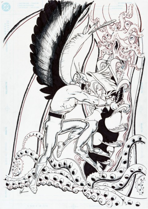 Hawkgirl issue 55 cover by Howard Chaykin.  Source.