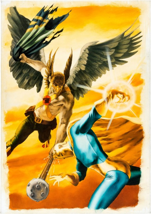 Hawkman issue 25 cover by John Watson.  Source.