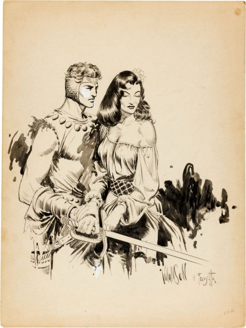 Homage to Flash Gordon by Al Williamson and Frank Frazetta.  Source.