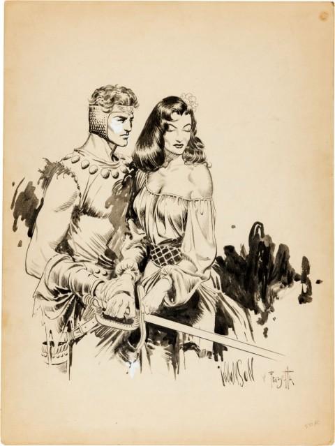 Homage to Flash Gordon by Al Williamson and Frank Frazetta.  Source.