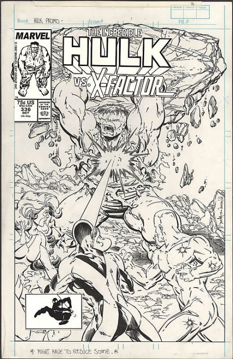 Incredible Hulk issue 336 unused cover by Todd McFarlane.  Source.