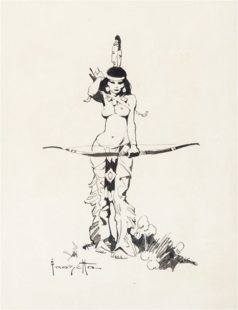 Indian Maiden by Frank Frazetta.  Source.