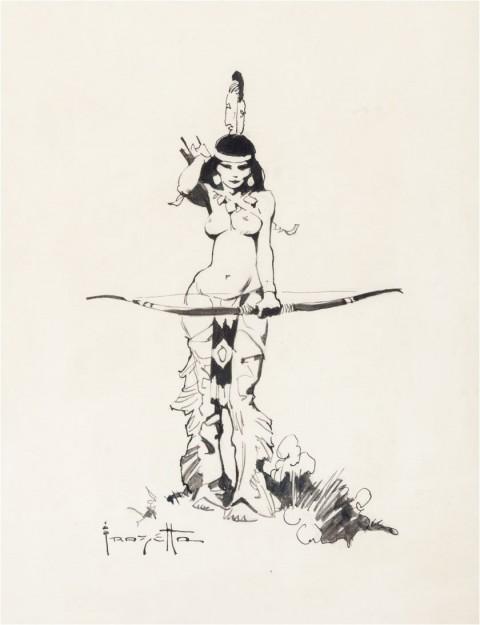 Indian Maiden by Frank Frazetta.  Source.