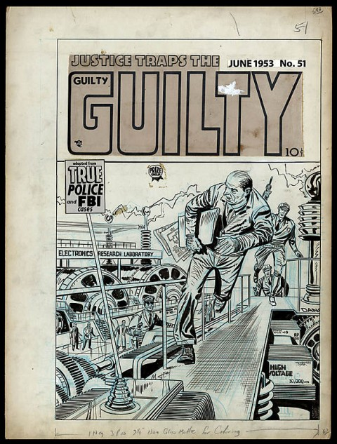 Justice Traps The Guilty issue 51 cover by Marvin Stein.  Source.