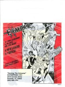 Marvel Masterworks Excalibur promo bag 1987 back