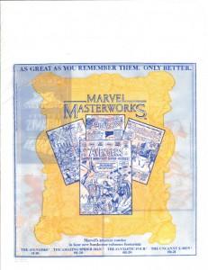 Marvel Masterworks Inferno promo bag 1988 front