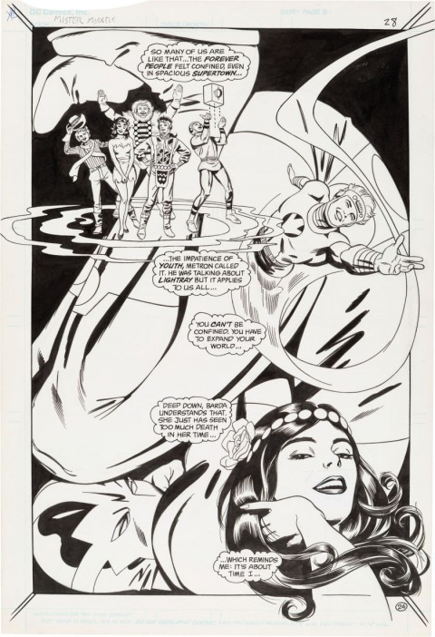 Mister Miracle Special issue 1 Splash page 24 by Steve Rude.  Source.