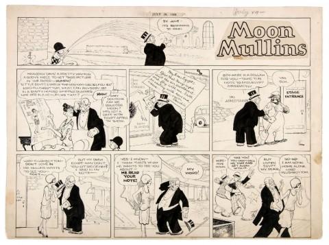 Moon Mullins 07-29-1928 by Frank Willard.  Source.