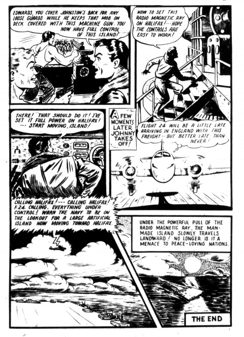 The last Johnny Canuck page from Dime Comics No. 28