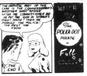 The last Bell Polka-Dot Pirate panel from Commando Comics No. 22