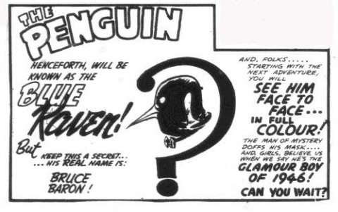 What follows the last Penguin panel from Wow Comics No. 30