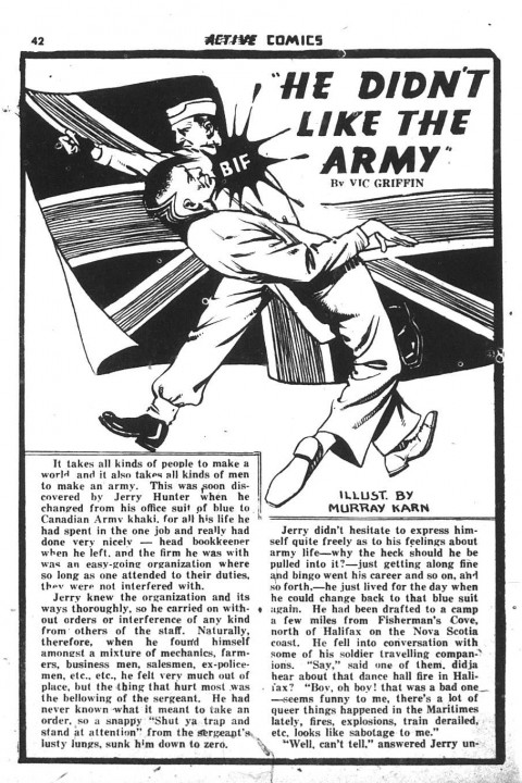 Griffin story from Active Comics No. 11 Illustrated by Murray Karn