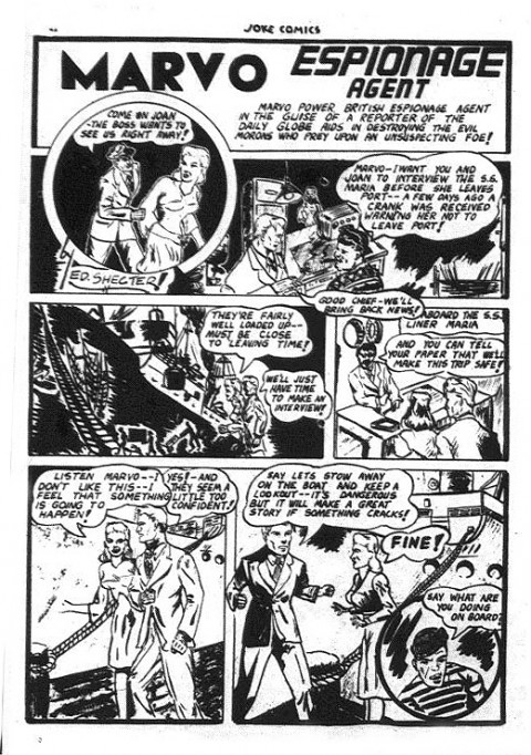 Ed Schecter's first comic work in Joke Comics No. 8