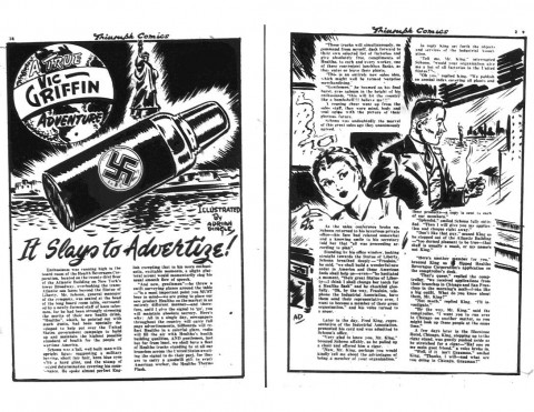 Griffin story from Triumph Comics No. 16 illustrated by Adrian Dingle