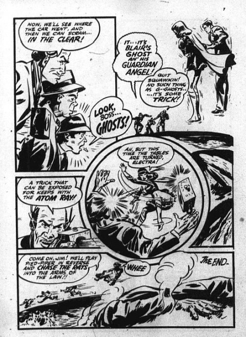 The last Bell Nelvana page from Triumph Comics No. 31