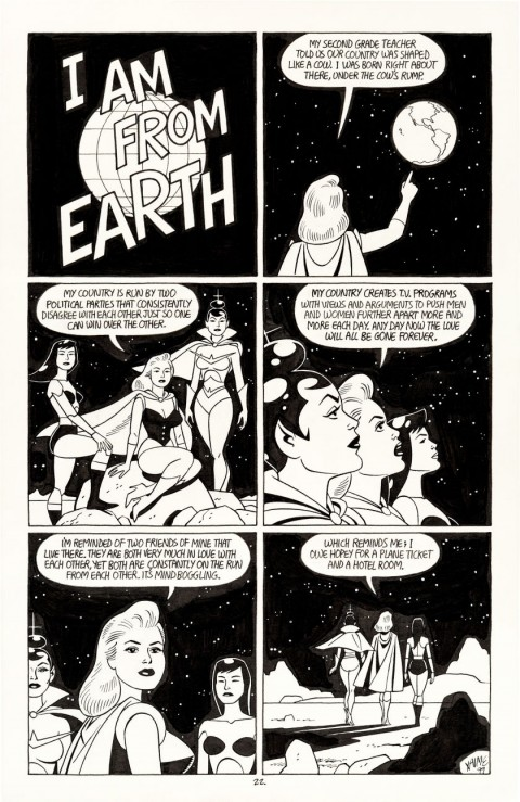 Penny Century issue 5 I Am From Earth by Jaime Hernandez.  Source.