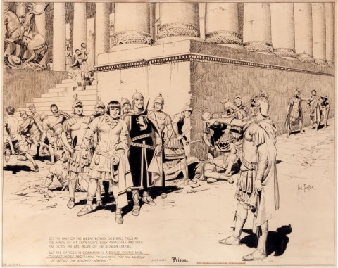 Prince Valiant Partial Sunday 10-6-40 by Hal Foster.  Source.