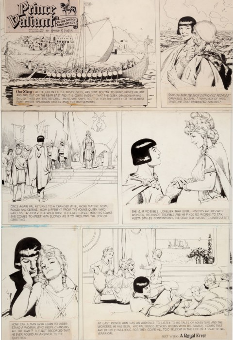 Prince Valiant Sunday 11-19-61 by Hal Foster.  Source.