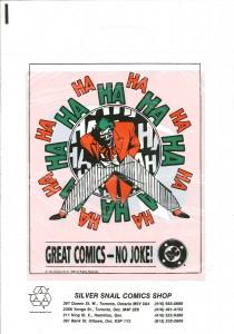 Robin Joker promo bag 1989 back