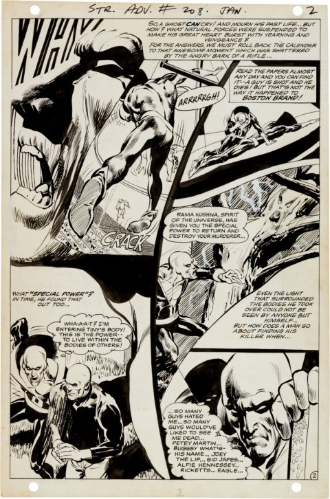 Strange Adventures  issue 208 page 2 by Neal Adams.  Source.