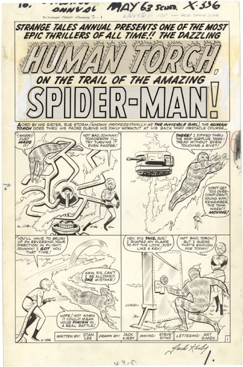 Strange Tales Annual 2 page splash by Jack Kirby and Steve Ditko