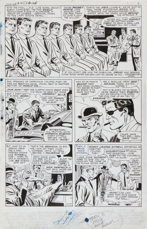 Strange Tales issue 145 page 2 by Jack Kirby, Don Heck, and Mike Esposito.  Source.