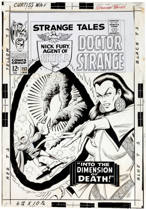 Strange Tales issue 152 cover by Bill Everett.  Source.