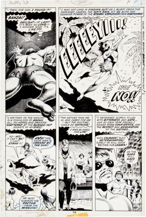 Sub-Mariner issue 53 page 14 by Bill Everett.  Source.