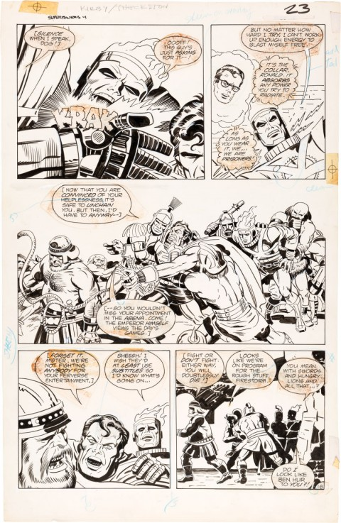 Super Powers V2 issue 4 page 18 by Jack Kirby and Greg Theakston.  Source.