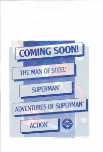 Superman promo bag 1986back