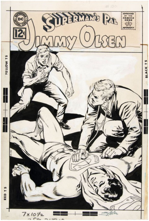 Superman's Pal Jimmy Olsen issue 120 cover by Curt Swan and Neal Adams.  Source.