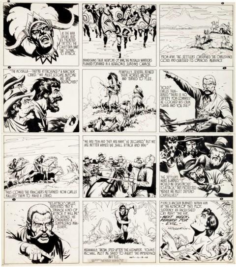 Tarzan Sunday 12-19-43 by Burne Hogarth.  Source.
