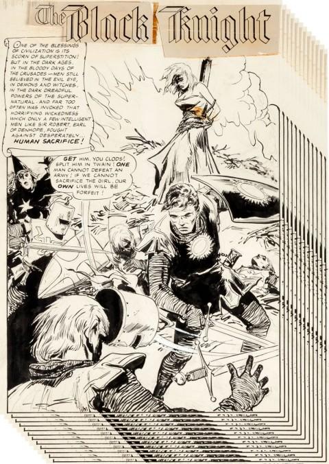 The Black Knight issue 1 splash by Ernie Schroeder.  Source.