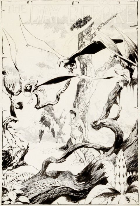 The Day Before by Bernie Wrightson.  Source.