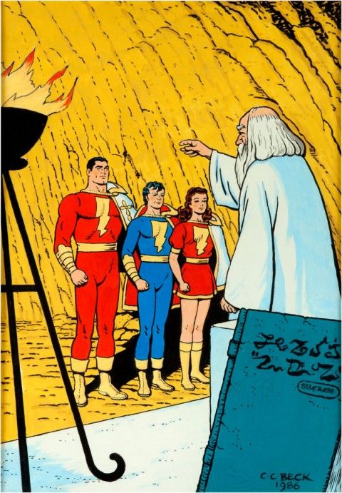 The Marvel Family by C. C. Beck.  Source.