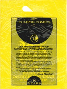 Total Eclipse promo bag 1988 back