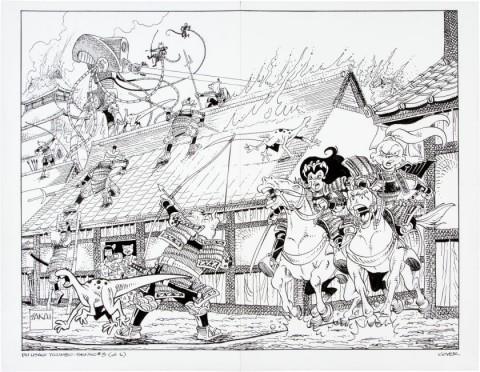 Usagi Yojimbo Senso  issue 3 cover by Stan Sakai.  Source.